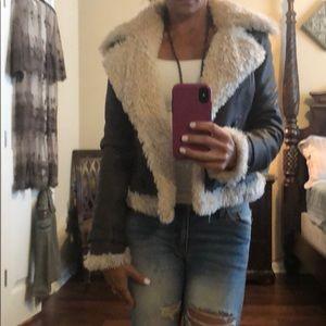 XS Bebe 100% leather jacket